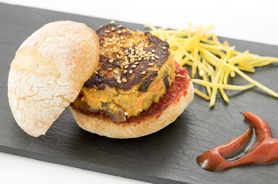 mini burger de setas